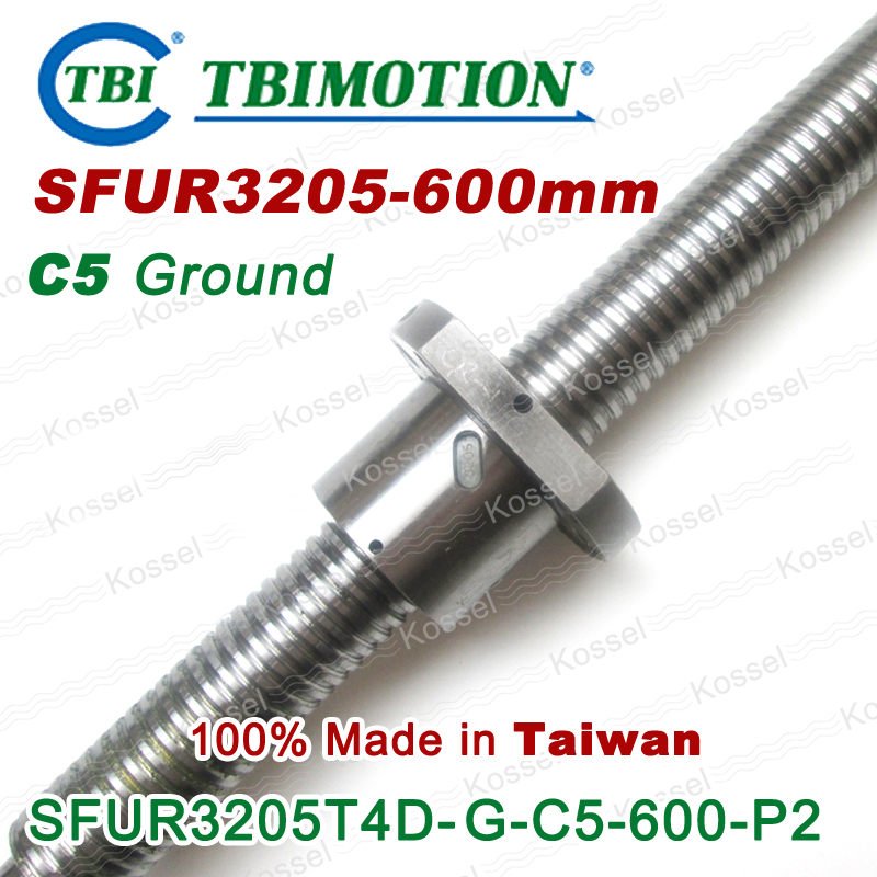 TBI 3205 C5 600mm ball screw 5mm lead with SFU3205 ballnut of SFU set end machined for high precision CNC diy kit tbi 2510 c3 620mm ball screw 10mm lead with dfu2510 ballnut end machined for cnc diy kit dfu set