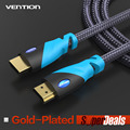 Vention HDMI cable HDMI to HDMI cable 1M 2M 3M 5M  4K HDMI cable 1.4 1080P 3D for PS3 projector HD LCD Apple TV computer cable
