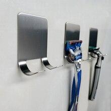 Hourong 304 держатель для бритвы из нержавеющей стали с крючками для мужчин держатель для бритья полка для ванной комнаты из вискозы
