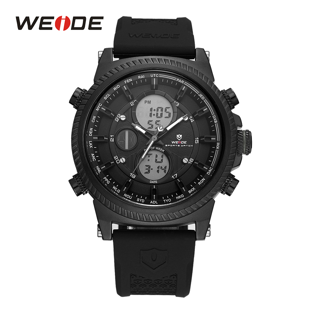 WEIDE Mens Black Sports Stopwatch Quartz Digital Watch Date Day Alarm Silicone Band Buckle Man Wristwatches Relojes Para Hombres weide mens black sports stopwatch quartz digital watch date day alarm silicone band buckle man wristwatches relojes para hombres page 4