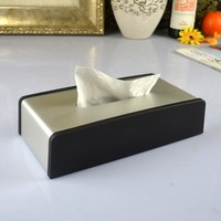Rumidjah boutique Jane European Aluminum Alloy atissue box black box Home Furnishing stainless steel towel smoke Hotel