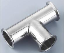 """Free shipping 1.5 38mm Sanitary Tri Clamp 3 Way Tee 304 Stainless Steel Sanitary Ferrule Tee Connector Pipe Fitting 1.5"""" Tri"""