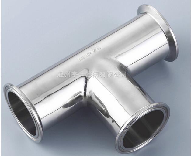 O envio gratuito de 1.5 ''38mm 3 Way Tee Sanitária Braçadeira Tri 304 Tubulação de Aço Inoxidável Sanitário Ponteira Conector Tee montagem 1.5