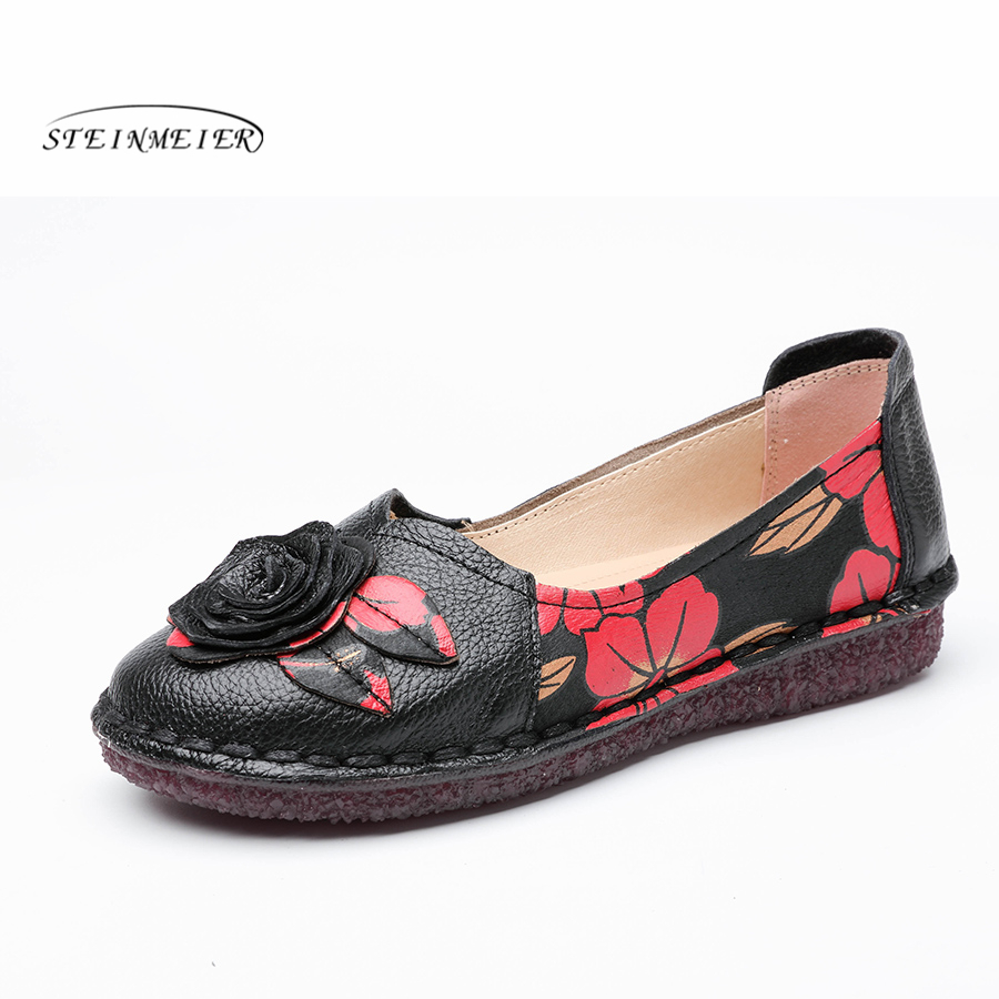 Genuine cow Leather women flats shoes handmade vintage British style oxford shoes for women shoes sandals 2018 spring big US 9 xiuningyan vintage british style oxford shoes for women genuine leather flat shoes women us size13 handmade black leather shoes