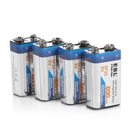 20pcs/lot EBL 280mAh 6F22 9v Battery Rechargeable Battery NI MH 9 Volt Replacement Batteries Universal free shipping