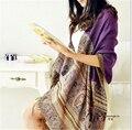 200 * 70 см HOT 2015 женщин зимней чехии женщин мыс малый би хлопок теплый шарфа пашмины кашемировые шали