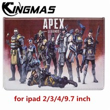 apex-legends Ultra-thin painted PU leather case for Apple iPad 2 3 4 A1460 9.7 inch tablet Automatic sleep wake up flip