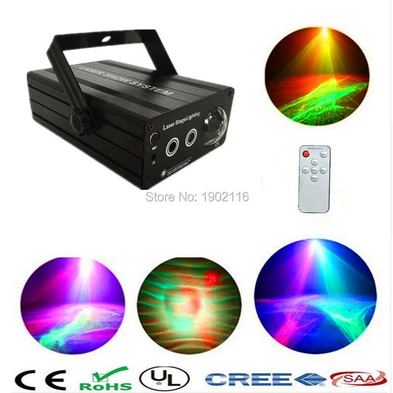 ФОТО IR Control 3lens 48 gobos RG Laser Light Blue LED mix effect Stage Light Colorful Galaxy Meteor Lights KTV bar dj Disco Lighting