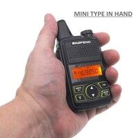 מכשיר הקשר Baofeng מיני מכשיר הקשר BF-T1 LCD UHF FM Ham CB רדיו שני הדרך רדיו לילדים 1500mAh HF משדר Interphone (5)