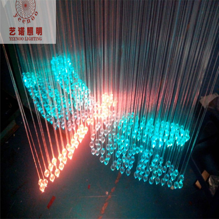 Fasion Fibra Optica Cable Design Lighting Colorful Dragonfly Shape Fiber Crystal Lamp Length 0 8 M Optic Led Rgb In Lights From