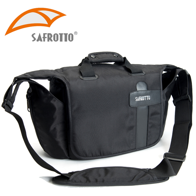 Safrotto Photography Good Quality Handbag Soft Inner Folding Divider Dslr Messenger Bags Digital Camera Nylon Black
