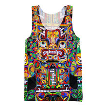 Fashion Men Tank Top South American Cultural Art Jersey Sleeveless Garmen Sexy Vest Summer Undershirt Shirt Clothing Tanktop(Hong Kong,China)