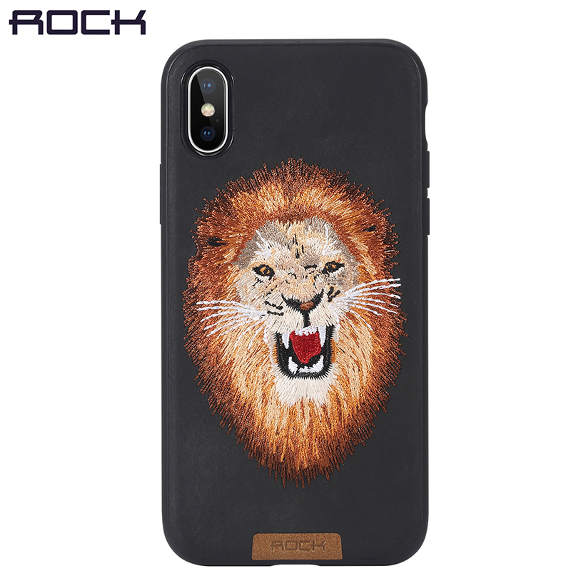 best sneakers e698a 3b93e US $18.32 |For iPhone X Case, ROCK Slim Full Protective Beast Embroidery  Phone Case For iPhoneX Back Cover Tiger Lion Leopard-in Fitted Cases from  ...
