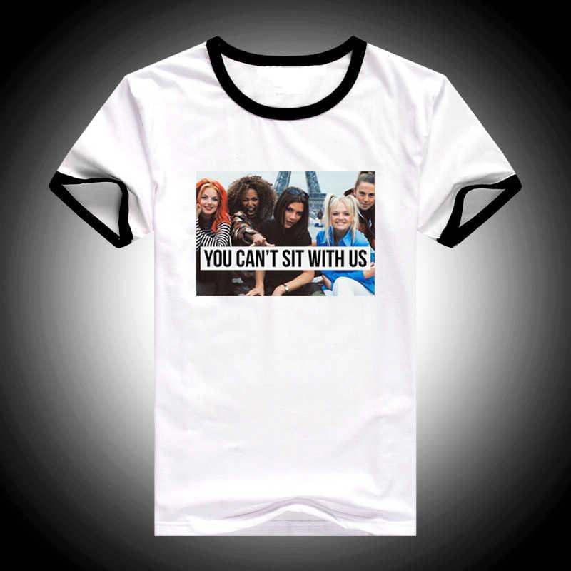 Spice girls t shirt moda cant sedersi con noi maglietta delle donne divertenti t-shirt streetwear femminile vintage graphic tee camicia femme