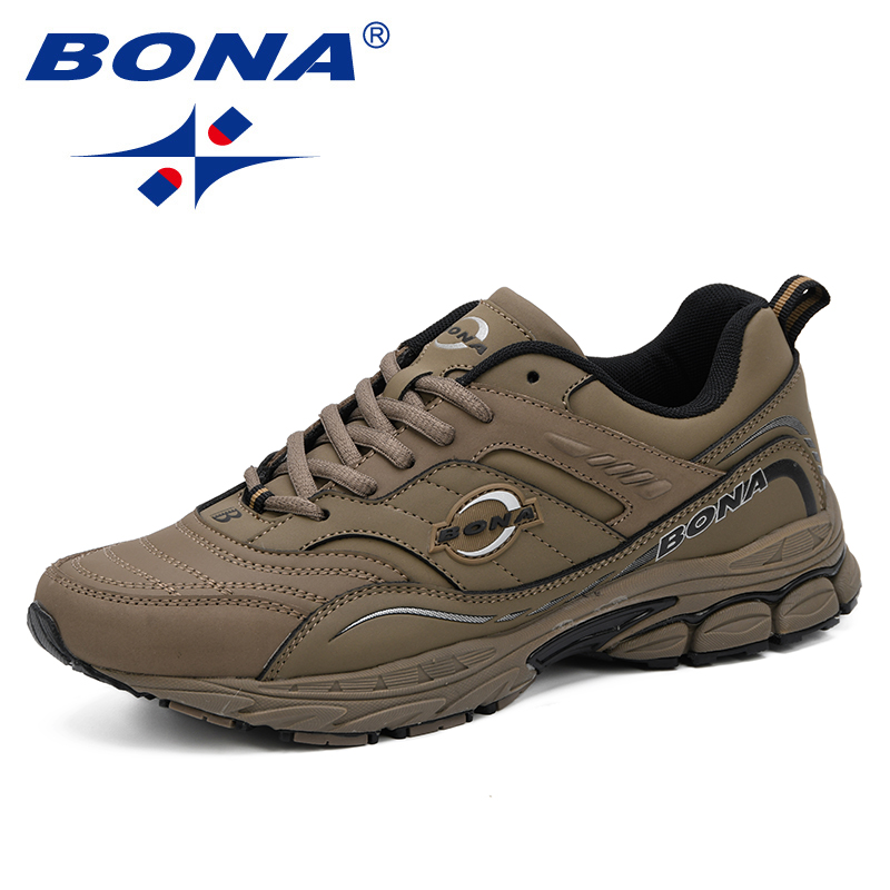 BONA New Fashion Luxury Causal Shoes Men Nubuck Leather Lace Up Male Sneakers Soft Leather Flat High Quality Man Fashion Shoes