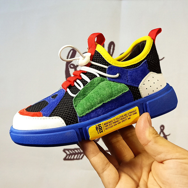 Sneakers Shoes Fitness Kids Girls Children Boy Flat Net