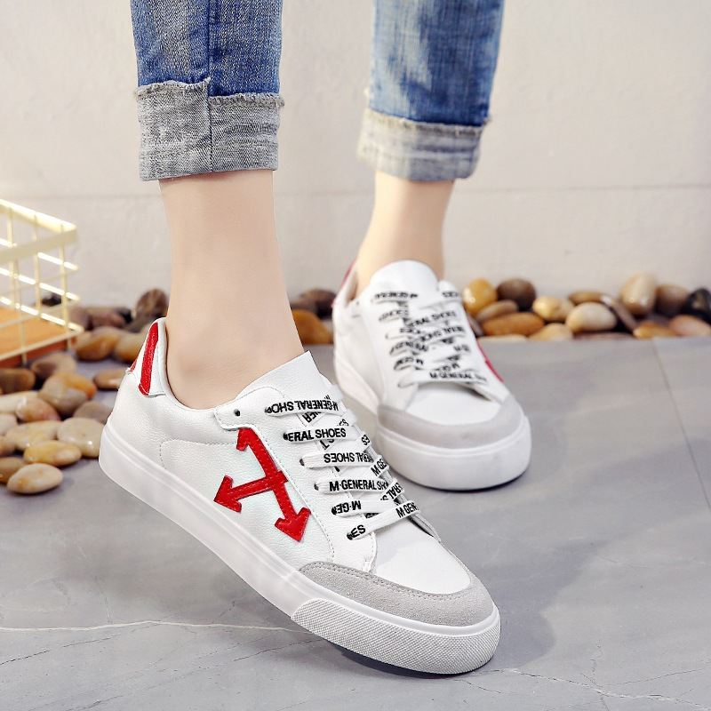 Women Leather Shoes 2018 Spring New Female Casual Sneakers with Cross Lady White Shoes Zapatillas Deportivas Mujer Preppy Style 2017brand sport mesh men running shoes athletic sneakers air breath increased within zapatillas deportivas trainers couple shoes