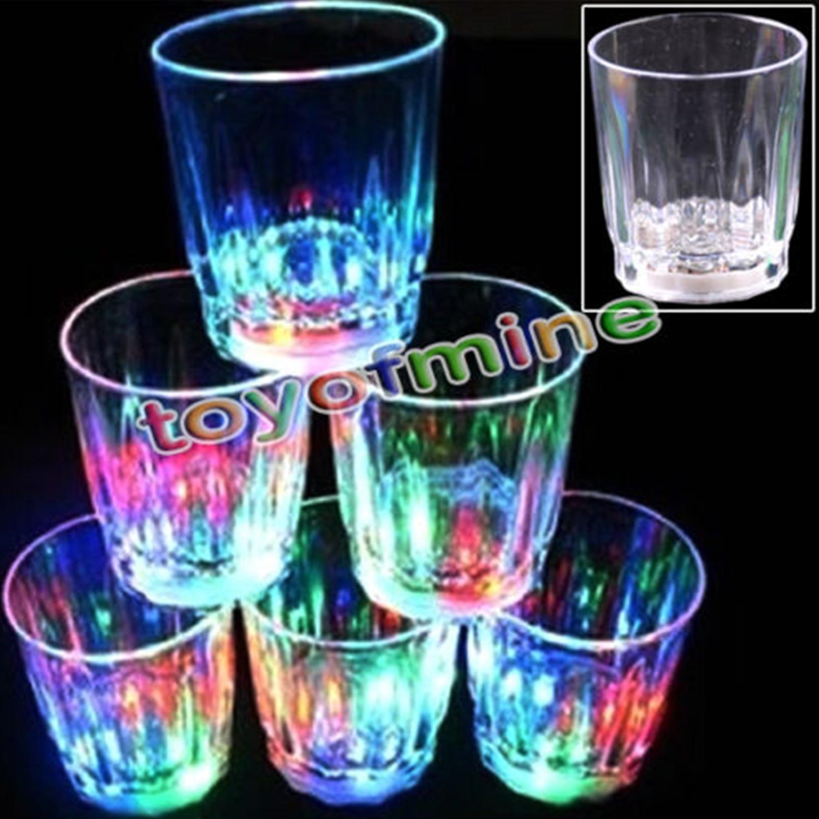 Mini LED Flashing Plastic Beverage Wine Drink Cup Bar ...
