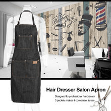Hair Dresser Salon Apron Hairdressing Cape Hair Cloth Cutting Dyeing Cape for Barber Shop Black Jean(China)