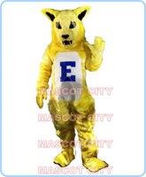 קמע פראי צהוב חתול קמע תלבושות קטיפה מותאמת אישית צהוב wildcat תלבושות cosplay אנימה קרנבל פנסי dress ערכות נושא 2688