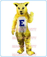 mascot yellow wild cat mascot costume custom plush yellow wildcat theme anime cosplay costumes carnival fancy dress kits 2688