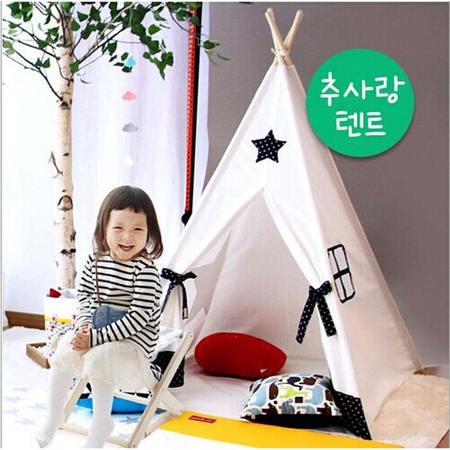 100% teepee Cotton kid tent kids play houses to play kids play tent child tent  sc 1 st  AliExpress.com & 100% teepee Cotton kid tent kids play houses to play kids play ...