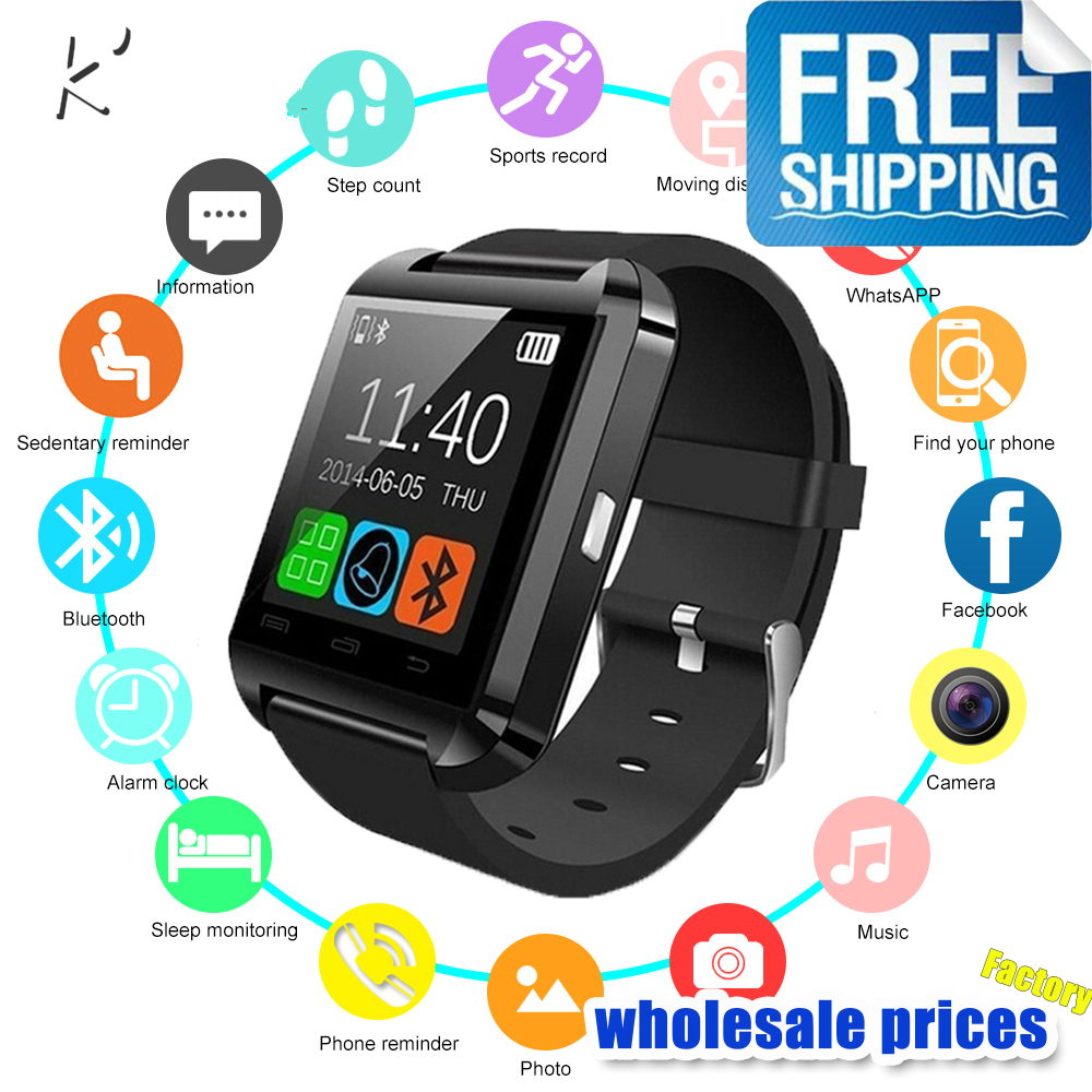 K '2019 Neue U8 <font><b>Smart</b></font> Uhr Bluetooth Smartwatch U80 für <font><b>IPhone</b></font> <font><b>6</b></font>/5 S Samsung S6/Hinweis 4 HTC Android Phone Smartphones Android image