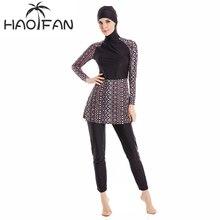 HAOFAN maillot de bain Hijab pour femmes, couverture complète, 6XL, vêtements de bain islamiques, grande taille, burkina, maillot de bain musulman