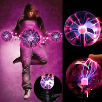 Plasma Ball Magic Crystal Lamp Beautiful Lightning Magic Crystal Globe Music Night Lamp Magic Crystal Light