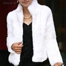 Daisy & Na Long Sleeve Faux Fur Women Fashion Coat Outwear Short Winter Jacket Warm 036