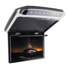 New 10.2 Inch Car Foldable Roof Flip Down Mount Monitor Atmosphere Lamp Multimedia Video FM HDMI LCD Color Monitor цена и фото