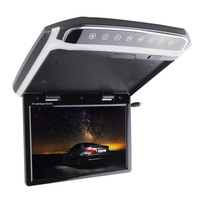 New 10.2 Inch Car Foldable Roof Flip Down Mount Monitor Atmosphere Lamp Multimedia Video FM HDMI LCD Color Monitor