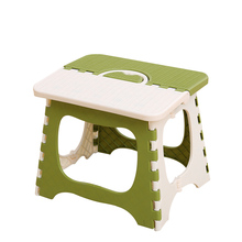 CAMMITEVER Random Color Portable Plastic Folding Stool Home  Ottomans Outdoors Fishing Study Dinner Children Stool Kid Chairs household stool kid game plastic stool green pink blue black color furniture shop children gift free shipping