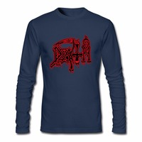 Men S Long Sleeve DEATH Class Logo T Shirt ROCK BAND HEAVY METAL T Shirts Funny