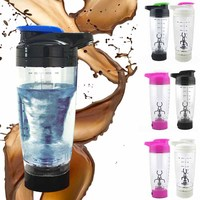 500ml Shaker Bottle Electric Blender Bottle Vortex Mixer Cup Battery Operated For Coffee Protein Shakes Milks