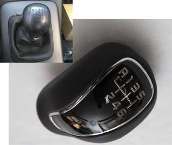 Brand New Black Leather Manual Stick Gear Shift Knob Lever Shifter 6-Speed For Kia Forte Cerato K3 2012-2016