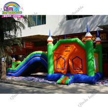 10*4.3*4.6m inflatable bounce house with slide ,0.55mm pvc Inflatable bouncer for kids