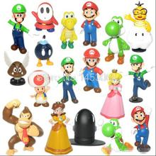 Wholesale Retail Free Shipping Plastic Super Mario Bros PVC Action figures Toys Dolls 18pcs/set