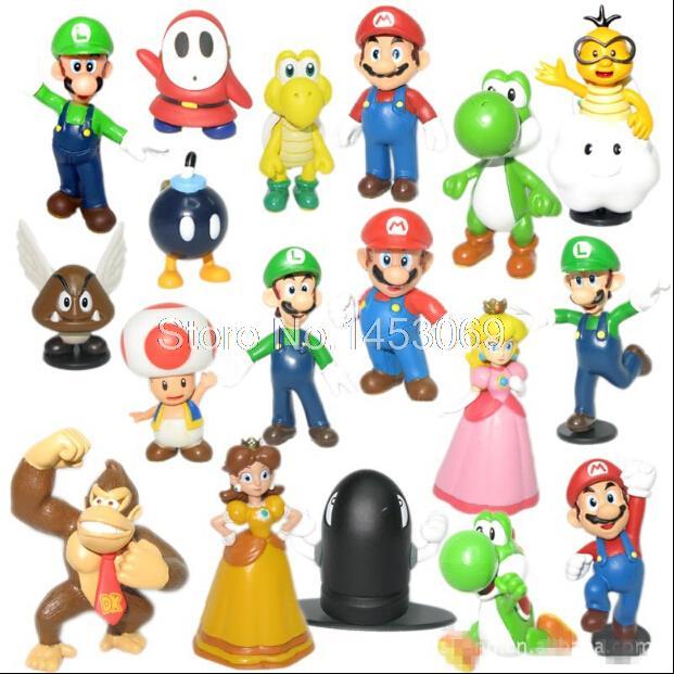 Wholesale Retail Free Shipping Plastic Super <font><b>Mario</b></font> Bros <font><b>PVC</b></font> <font><b>Action</b></font> <font><b>figures</b></font> <font><b>Toys</b></font> <font><b>Dolls</b></font> 18pcs/set