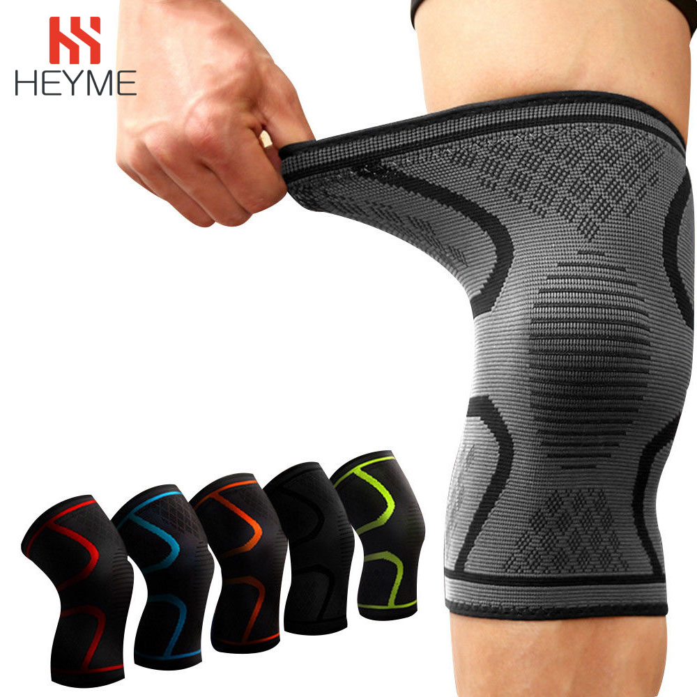 HEYME Fitness 1PC Hot Unisex Universal Basketball Running Gym Sports Knee Compression Joint Pain Relief Sleeve Supports Braces A