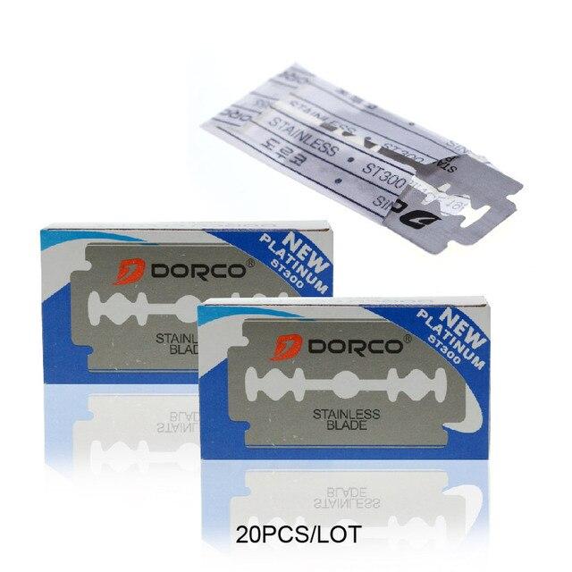 Dorco 20 刃ブランドステンレス鋼安全カミソリ刃シェービングブレードかみそり Lames デ rasoir 理髪ブレード