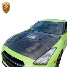 Carbon Fiber R35 Hood Cover Carbon with with Glass Engine Cover For Nissan GTR 2008-2016 Car Accessories