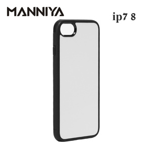 Image 2 - MANNIYA 2D Sublimation Blank rubber TPU+PC Case for iphone 7 8 SE 2020 with Aluminum Inserts  Free Shipping! 200pcs/lot