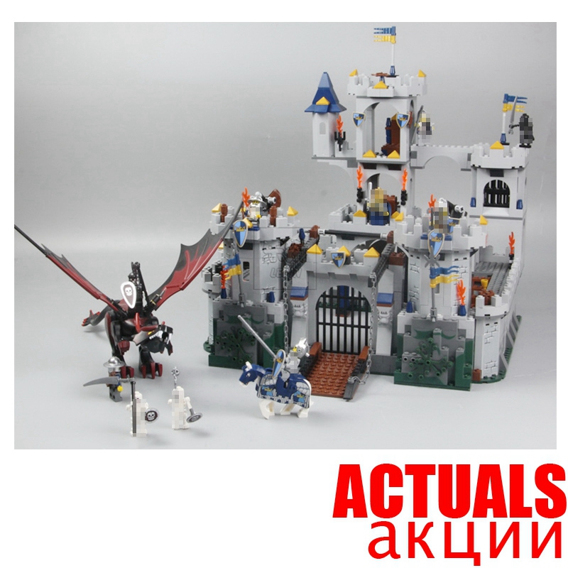 Lepin 16017 Fantasy Era King`s Castle Siege Dungeon Dragon Knights Skeletons Building Blocks Bricks Toy For Boys Compatible 7094 lepin 16017 king s castle siege building bricks blocks toys for children boys game model gift compatible with bela 7094
