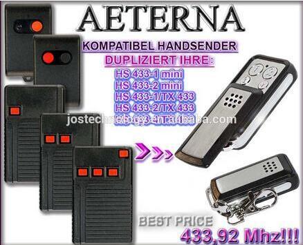AETERNA replacement remote control HS433-1mini,HS433-2mini,HS433-1/TX433,HS433-2/TX433,HS433-4/TX433 free shipping seip skr433 1 replacement 433 92mhz remote control free shipping