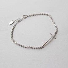 HFYK 2019 925 sterling silver bracelets for women round beads bracelet jewelry pulseras de plata bangles bileklik