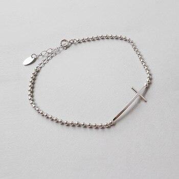 6b4a738876a0 HFYK 2019 pulseras de plata esterlina 925 para mujeres ronda pulsera de  perlas de joyería de
