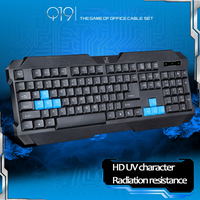Wired USB Gaming Keyboard Computer Keyboard with 4 Star Waterproof ABS Material Office User for Loptop pc Computer gamer