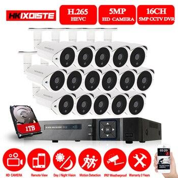 5MP AHD 16CH CCTV Система HDMI DVR 5.0MP 2560*1944 наружная Всепогодная CCTV камера домашняя система безопасности комплект наблюдения
