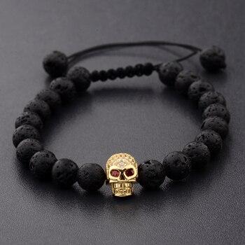 Bracelet style black skull crane noire 1